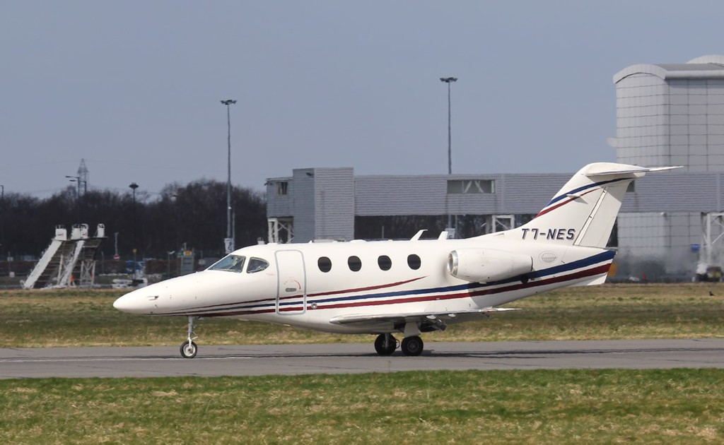 San Marino registered, Jommorix, Beech 390 Premier 1A, T7-NES arriving from Berlin.<br /> By Jim Calow.
