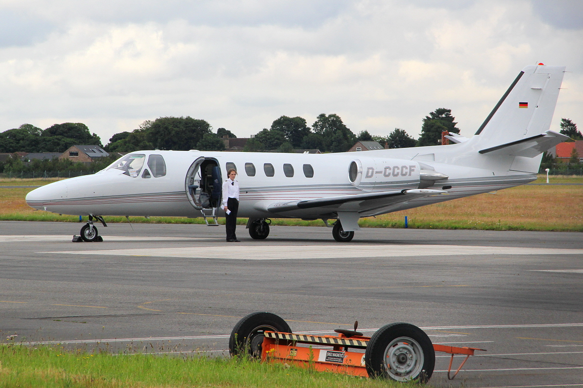 CCF Manager Airline, Cessna 550 Citation II, D-CCCF <br /> By Clive Featherstone.