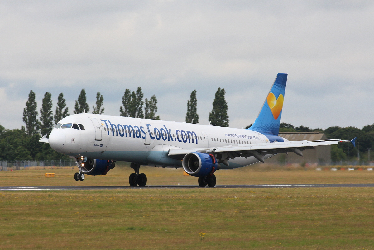 Thomas Cook, A321, G-TCDY<br /> By Clive Featherstone.