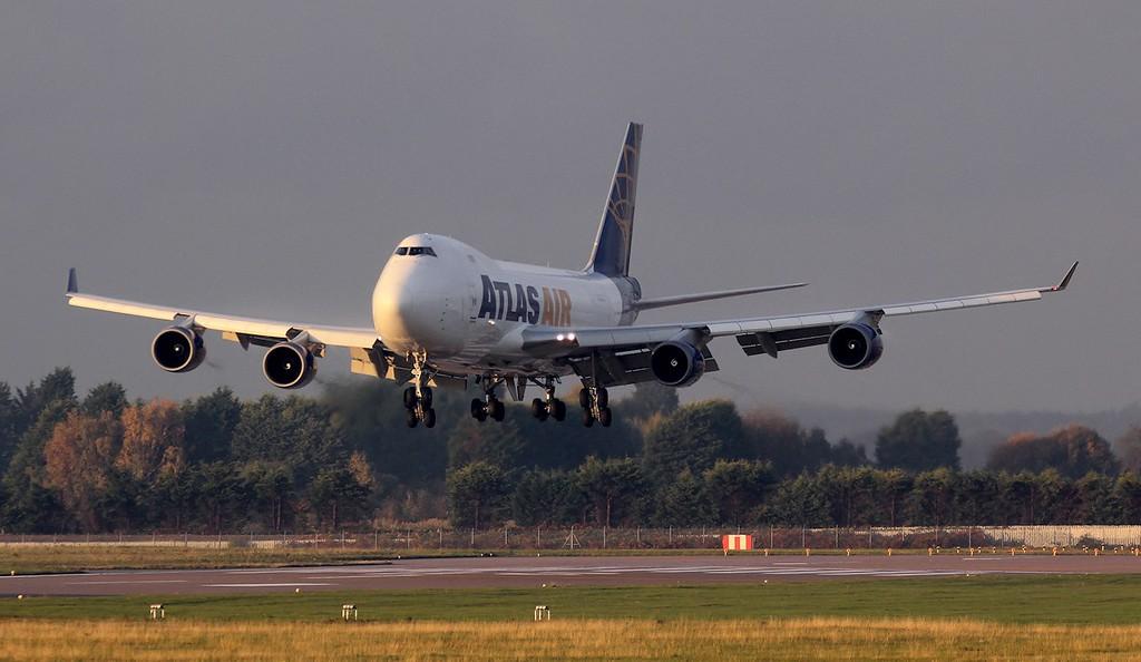 Atlas Air, B747-400F, N412MC<br /> By Jim Calow
