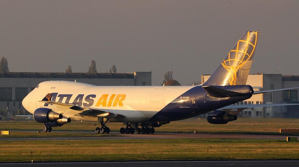 Atlas Air, B747-400F, N412MC<br /> By Jim Calow.