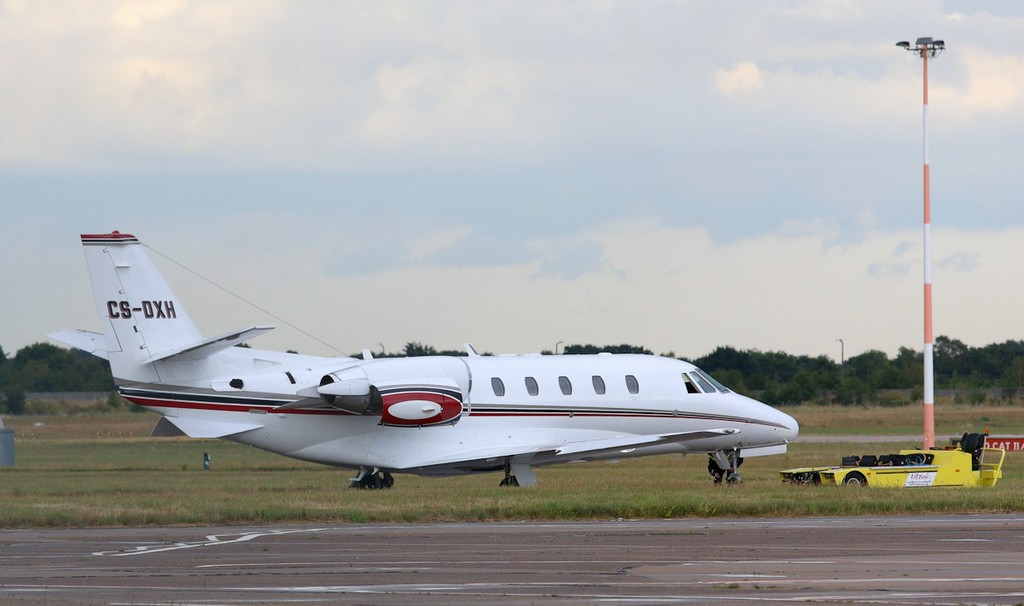 Netjets Cessna 560XL Citation XLS, CS-DXH.<br /> By Correne Calow.