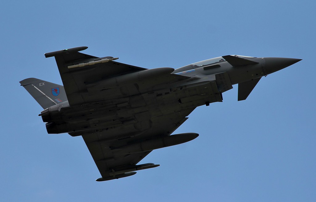Typhoon T3 ZK381/EX made a missed approach mid afternoon.<br /> By Steve Roper.