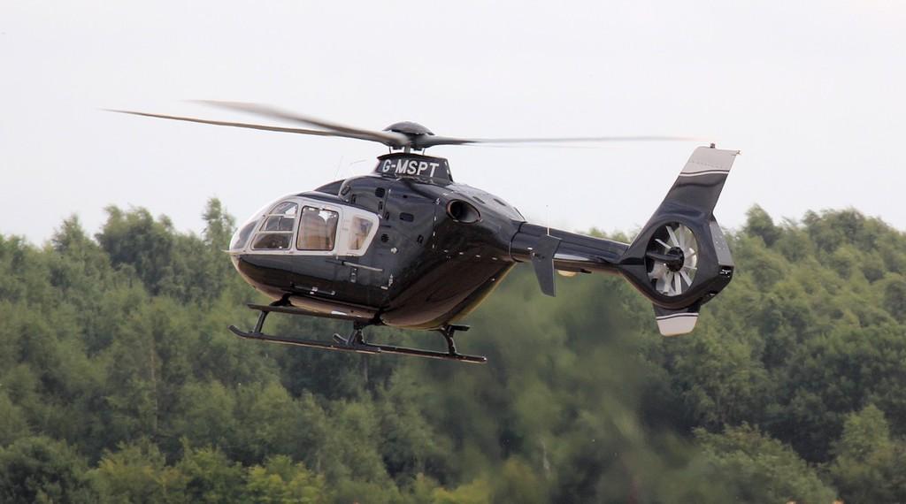 M Sport Ltd Eurocopter EC135 T2 G-MSPT.<br /> By Jim Calow.