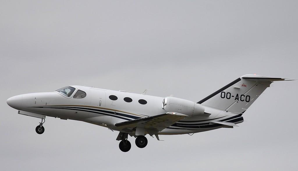 Cessna 510 Citation Mustang, OO-ACO<br /> By Steve Roper.