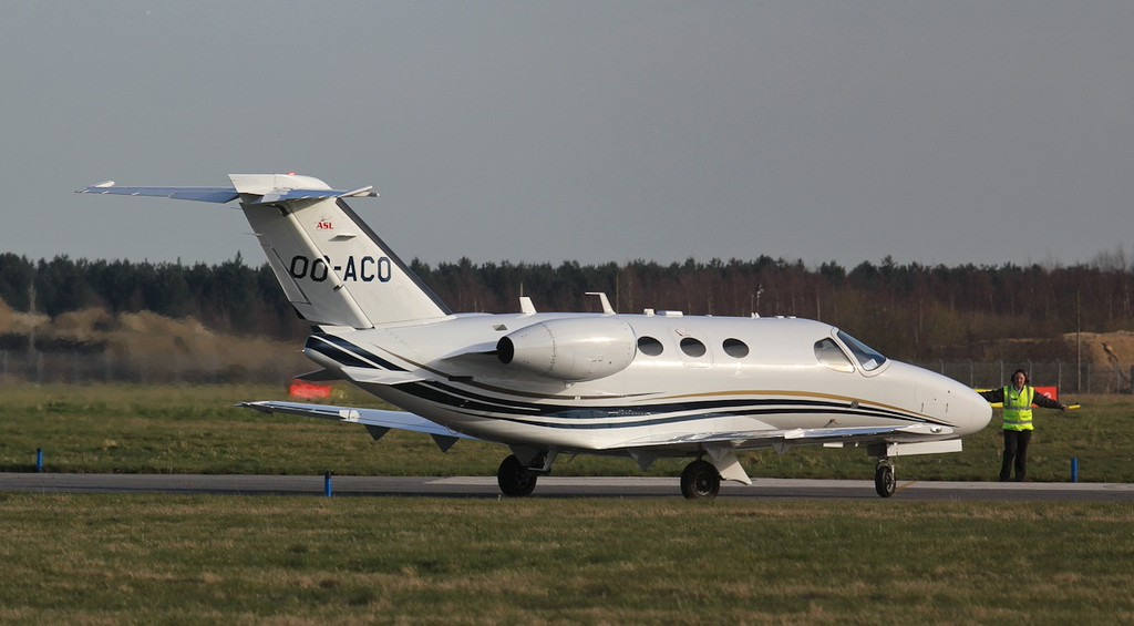 Air Service Liege Cessna 510 Mustang OO-ACO.<br /> By Jim Calow.
