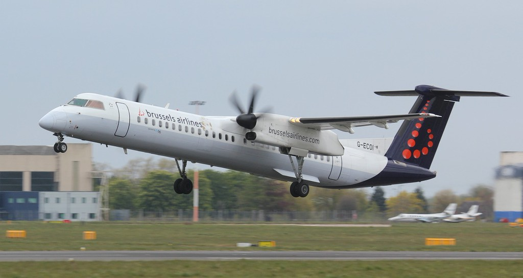 Brussels Airlines (Flybe), DHC-8-400, G-ECOI<br /> By Jim Calow.