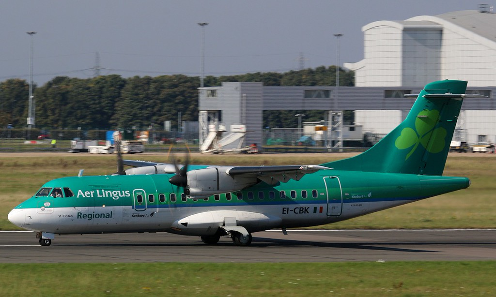 Stobart Air (Aer Lingus) , ATR42-300,  EI-CBK<br /> By Correne Calow.