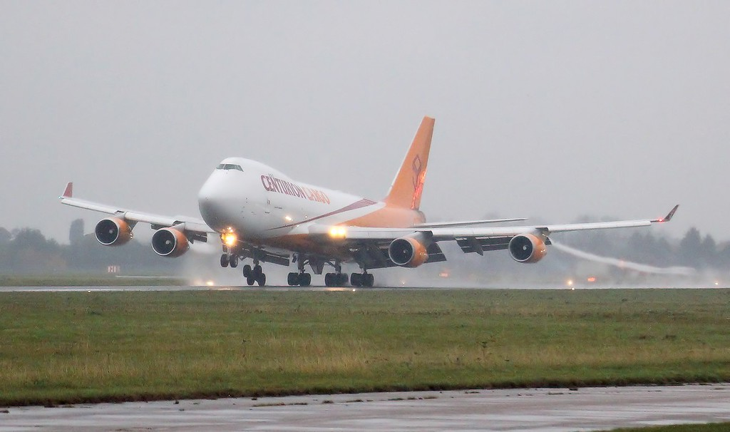 Centurion Cargo 747-400ERF, N904AR arriving from Amsterdam shortly before 8am.<br /> By Clive Featherstone.
