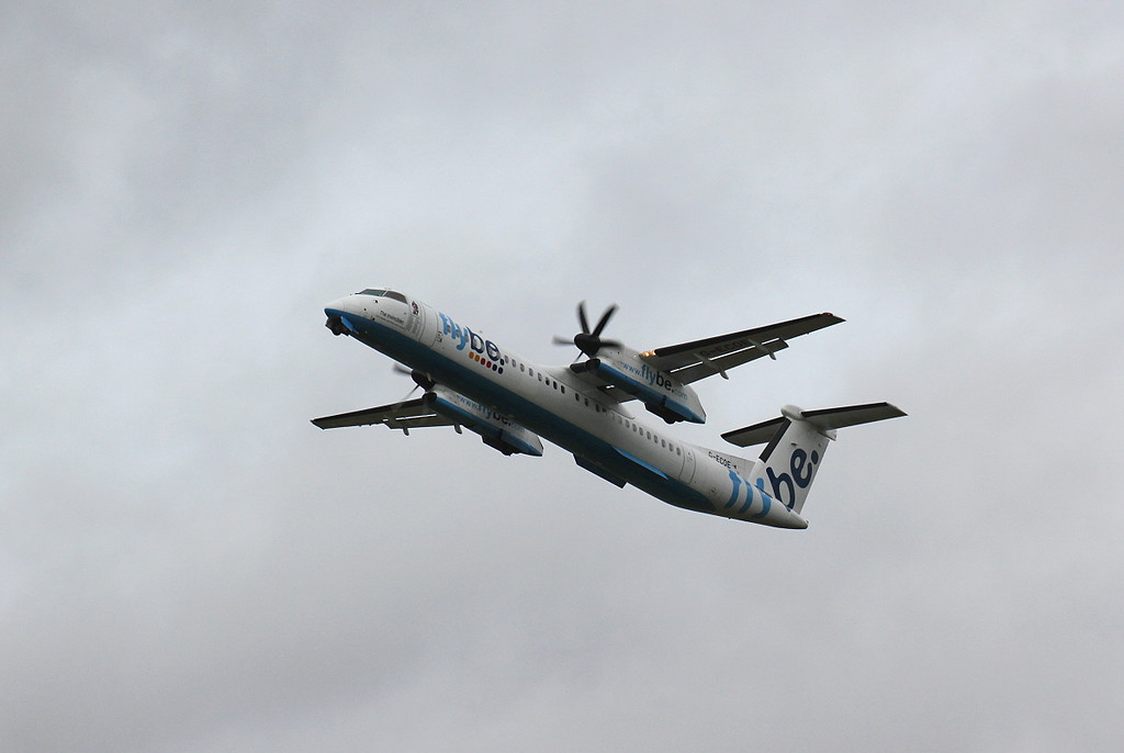 Flybe, DHC-8-400, G-ECOE<br /> By Clive Featherstone.
