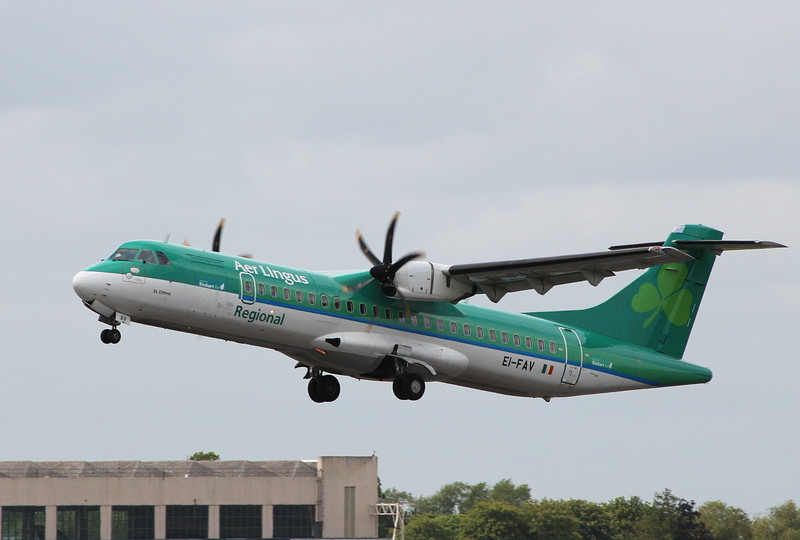 Aer Lingus (Stobart Air) ATR-72-600 EI-FAV.<br /> By Clive Featherstone.