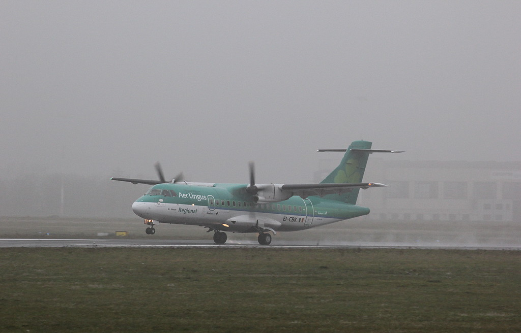 Aer Lingus (Stobart Air), ATR-42, EI-CBK<br /> By Clive Featherstone.