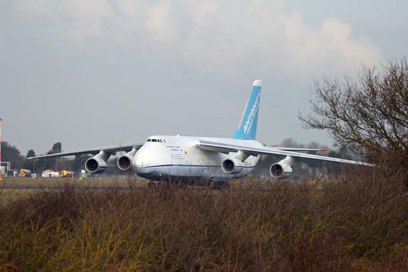 Antonov Airlines An-124-100 UR-82027.<br /> By Graham Vlacho.