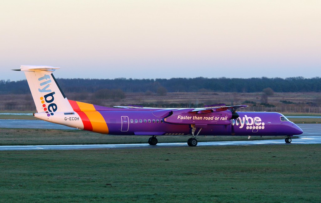 Flybe DHC-8-400 G-ECOH.<br /> By Correne Calow.