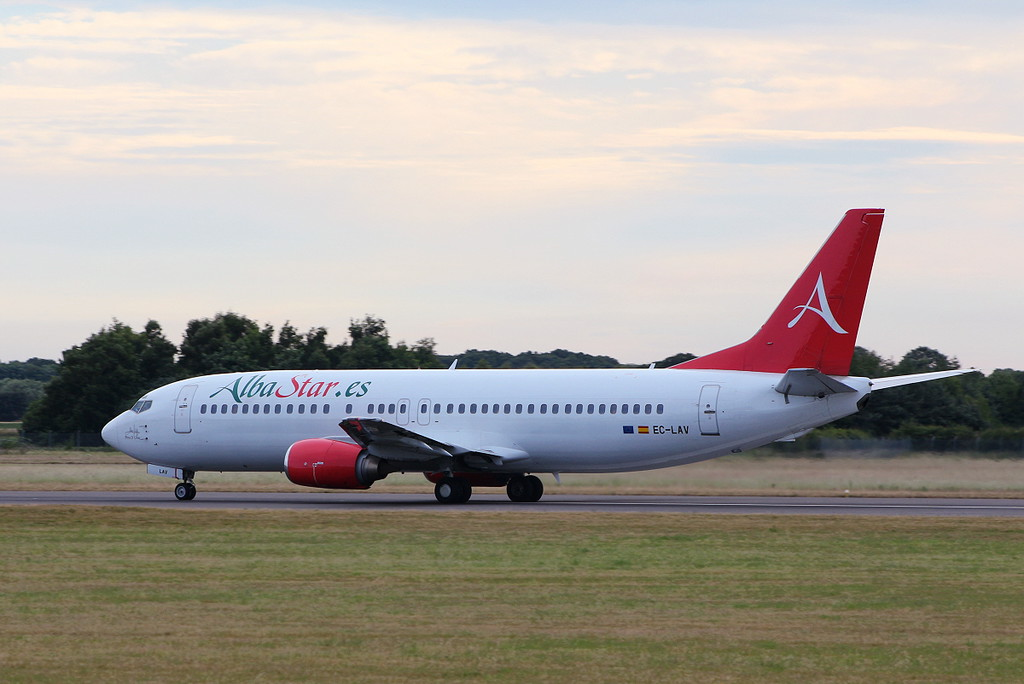 Alba Star 737-400, EC-LAV<br /> By Clive Featherstone.