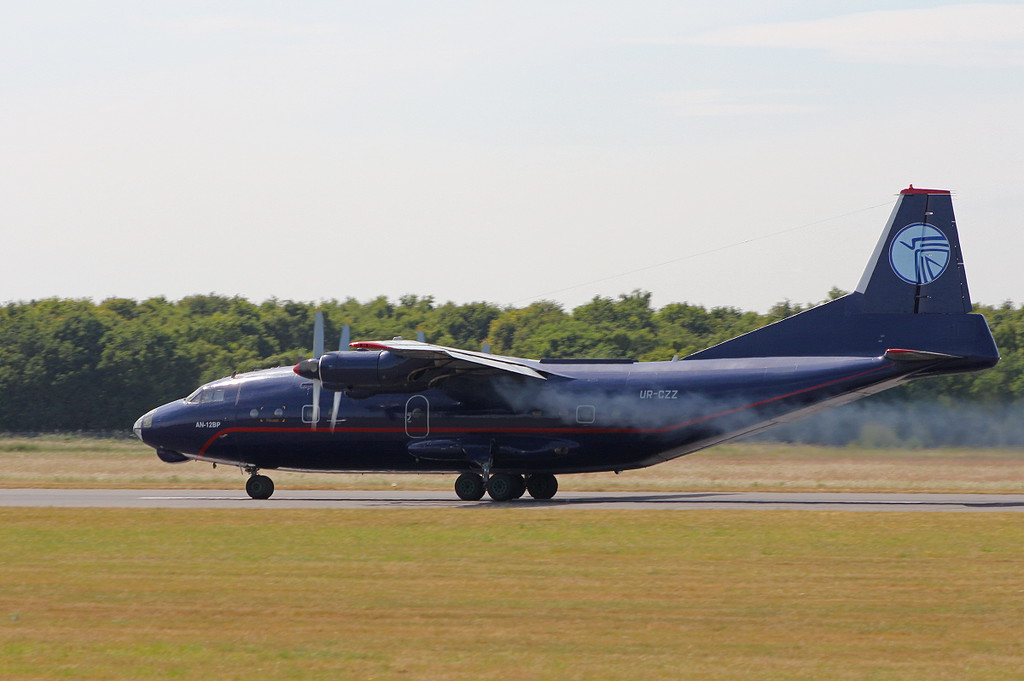 Ukraine Air Alliance An-12BP UR-CZZ<br /> By Clive Featherstone.
