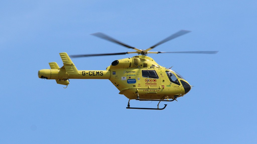 Yorkshire Air Ambulance MD900 Explorer, G-CEMS.<br /> By Correne Calow.