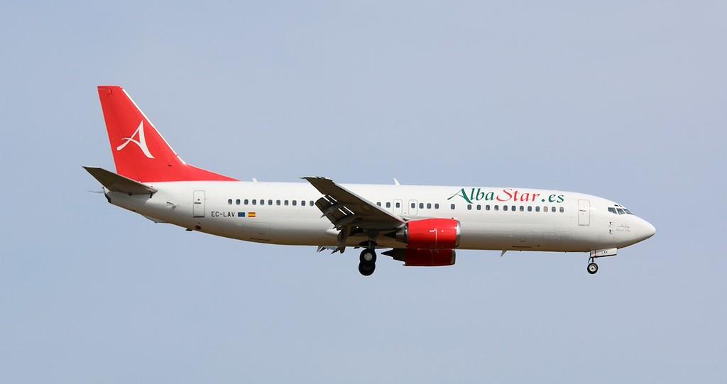 Alba Star 737-400, EC-LAV.<br /> By Correne Calow.