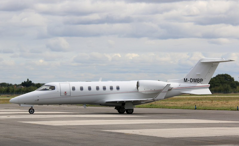 Ven Air,  Learjet 40, M-DMBP  (This was the last LJ40 built)<br /> By Correne Calow.