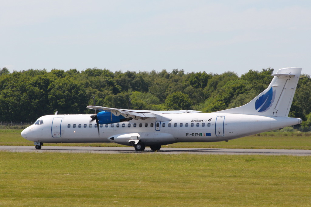 Stobart Air ATR-72 EI-REH<br /> By Clive Featherstone.