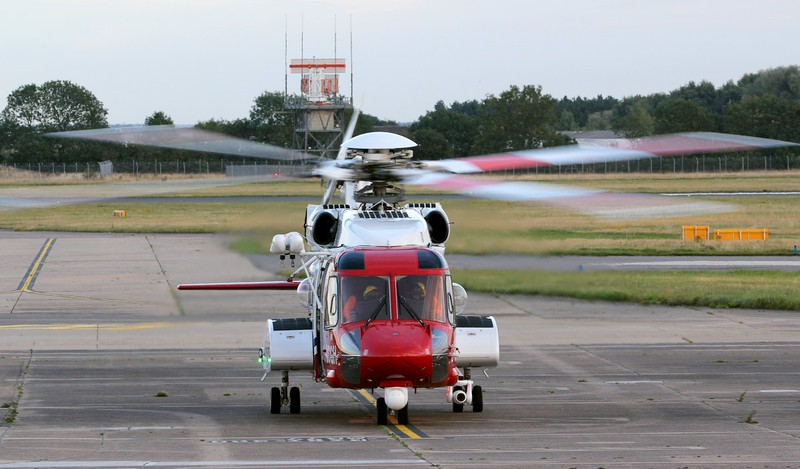 HM Coastguard, Sikorsky S-92A, G-MCGH<br /> By Jim Calow.