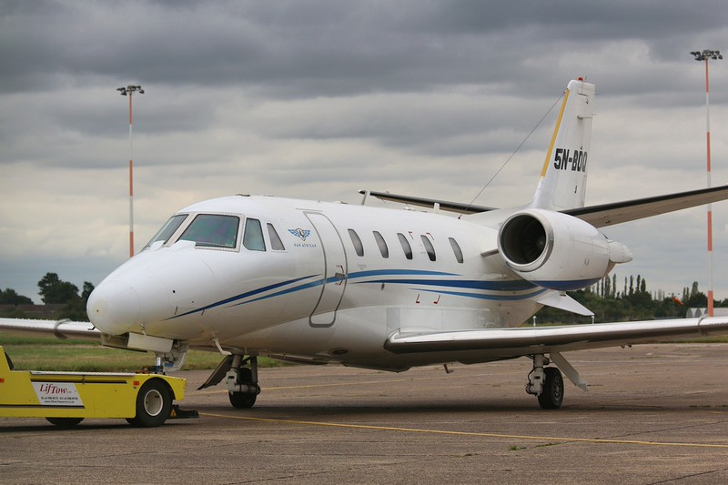 Pan African Airlines,Cessna 560XLS Citation Excel, 5N-BOQ<br /> By Correne Calow.