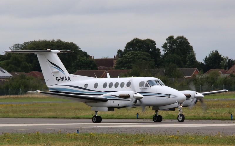 Beech 200 Super King Air, G-NIAA<br /> By Correne Calow.