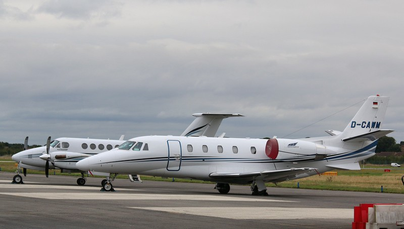 Aerowest, Cessna 560XL Citation XLS, D-CAWM and G-NIAA<br /> By Correne Calow.