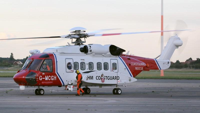 HM Coastguard, Sikorsky S-92A, G-MCGH<br /> By Jim Calow.