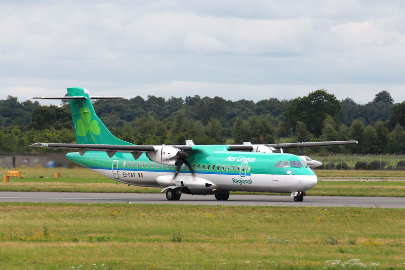Aer Lingus (Stobart Air), ATR-72-600, EI-FAX<br /> By Clive Featherstone.