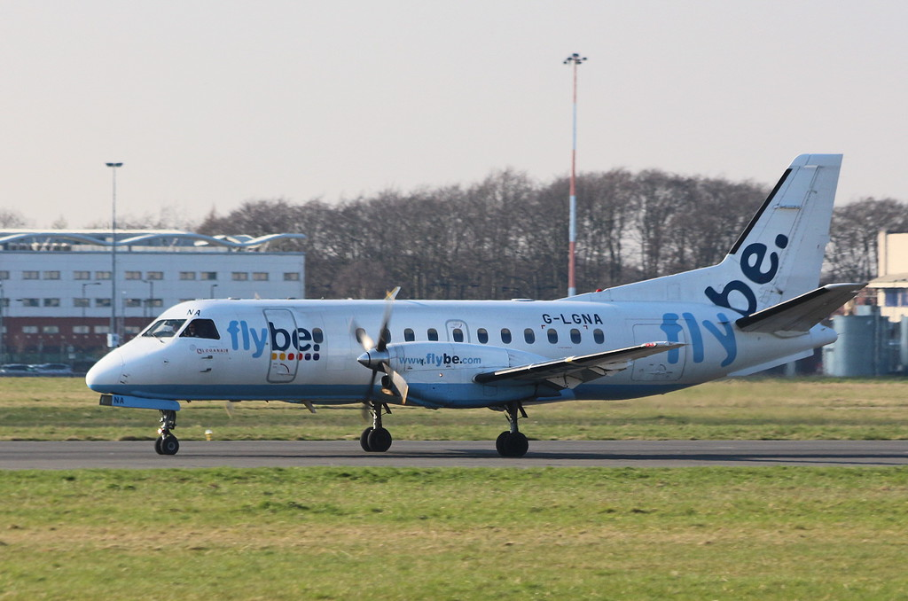 Loganair Saab 340, G-LGNA<br /> By Clive Featherstone.