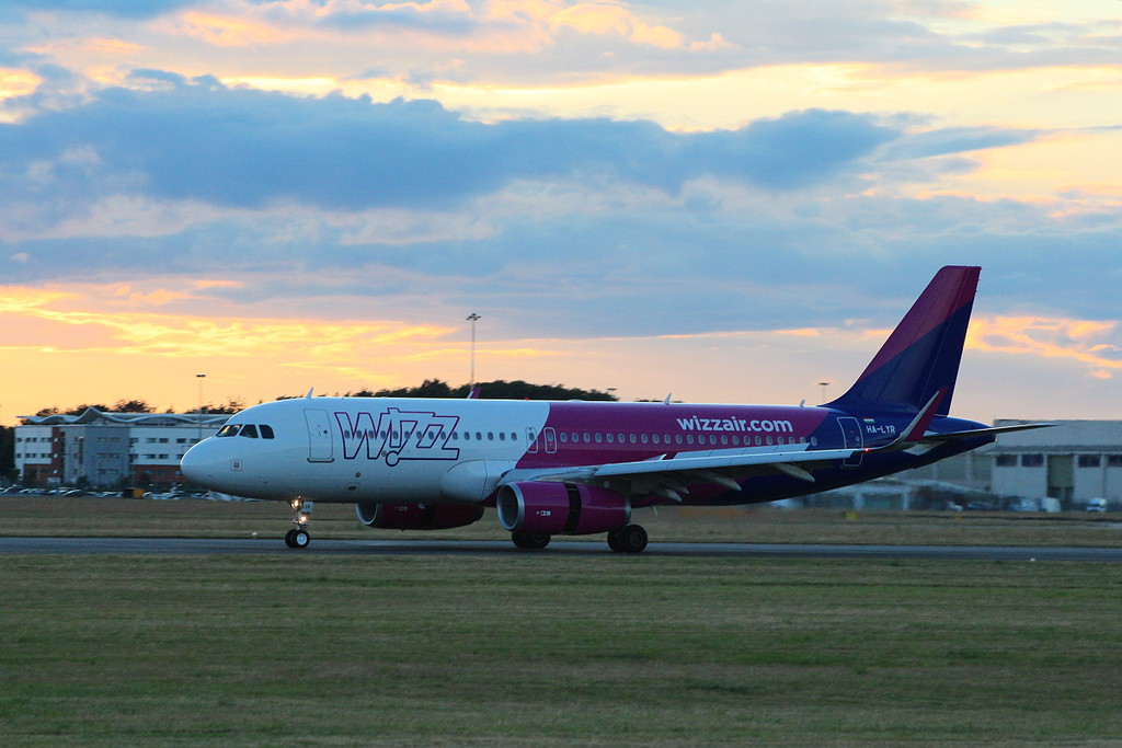 A first time visitor was Wizz Air A320, HA-LYR which arrived shortly after 9pm.<br /> By Clive Featherstone.
