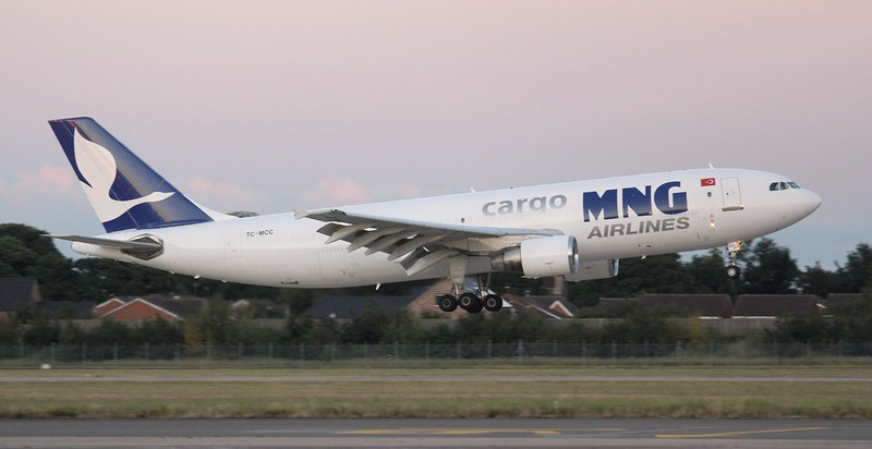 MNG Airlines A300-622R(F), TC-MCC.<br /> By Jim Calow.