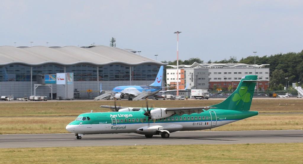 Air Lingus (Stobart Air), ATR 72-600, EI-FCZ on a first visit<br /> By Correne Calow.