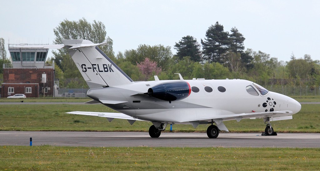 Blink Ltd, Cessna 510 Citation Mustang G-FBLK.<br /> By Jim Calow.