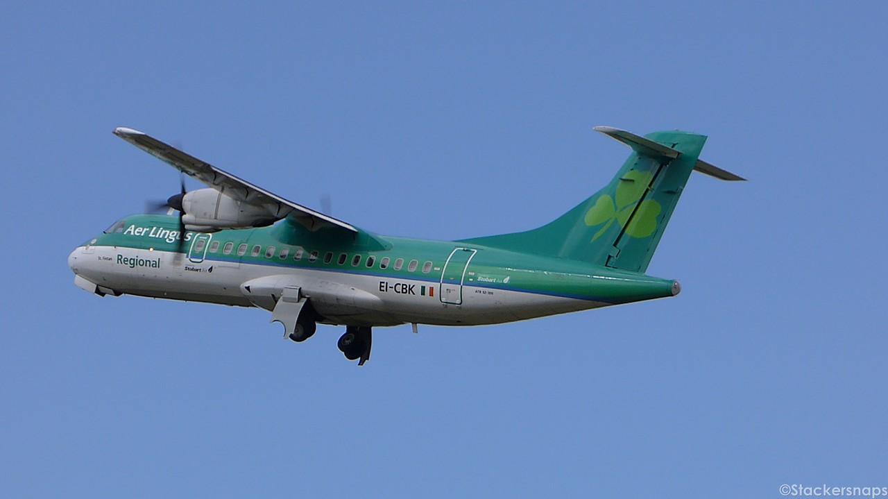 Stobart Air ATR 42-300, EI-CBK.<br /> By Kevin Barwell.