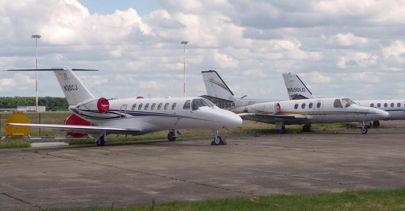 Cessna Aircraft Company, Cessna 525B CitationJet CJ3+, N30CJ, keeps it's stable mates company.<br /> By Correne Calow.