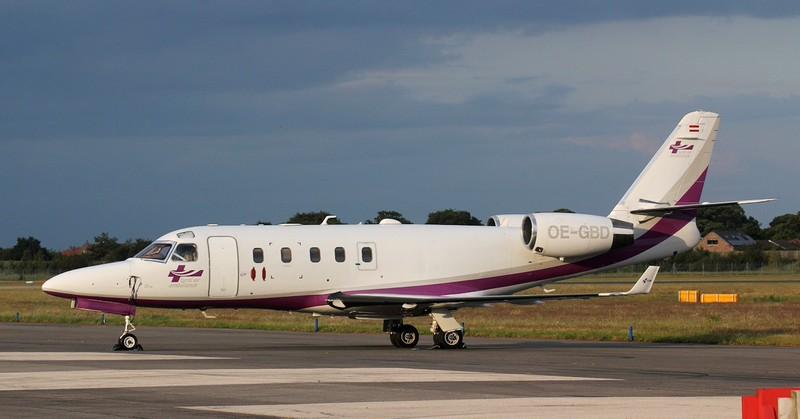 Tyrol Air Ambulance IAI Gulfstream G100 Astra. OE-GBD.<br /> By Jim Calow.
