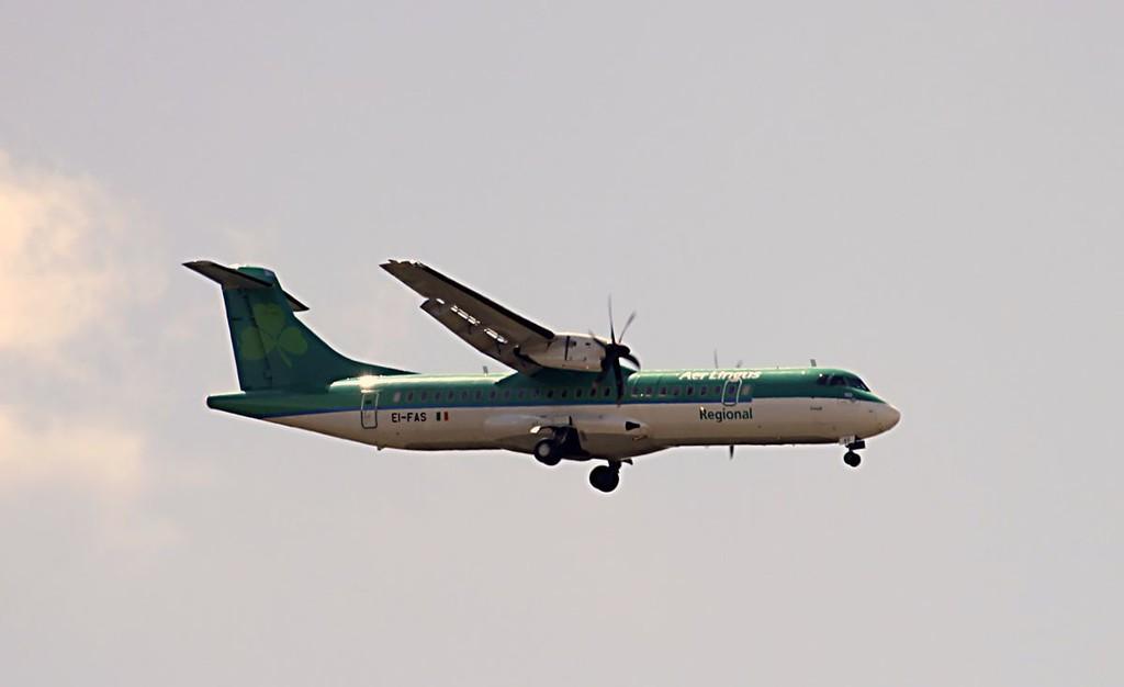 Air Lingus (Stobart Air) ATR72-600,  EI-FAS<br /> By Graham Vlacho.