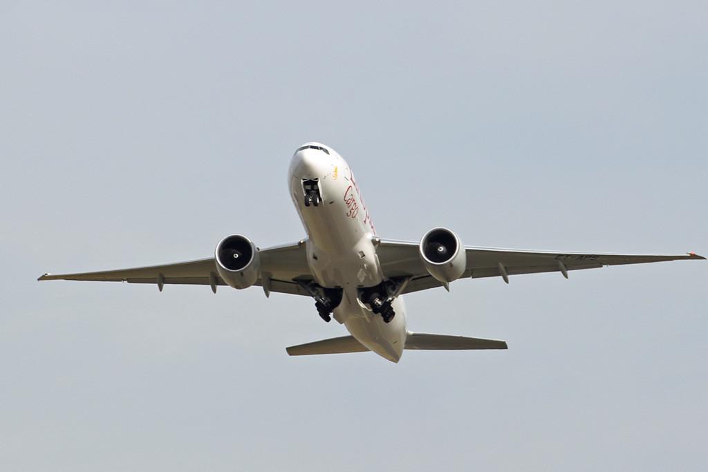 Ethiopian Cargo 777-200F, ET-APS <br /> By Graham Vlacho.