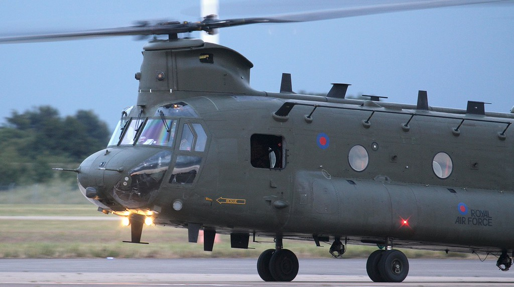 RAF Chinook HC4, ZA713.<br /> By Jim Calow.