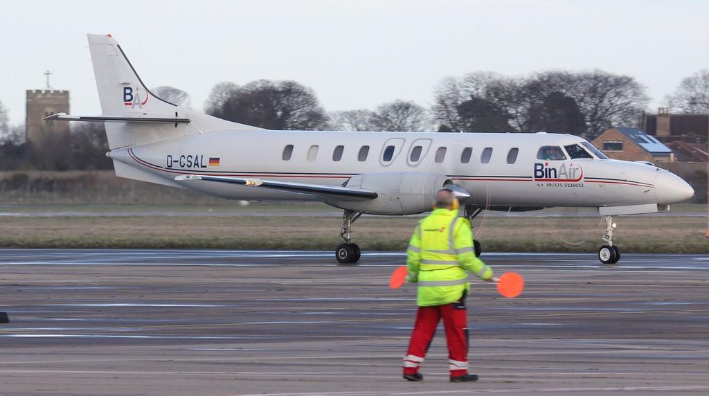 Bin Air Swearingen SA-227AC Metro III D-CSAL arrived from Saarbrucken late afternoon.<br /> By Jim Calow.