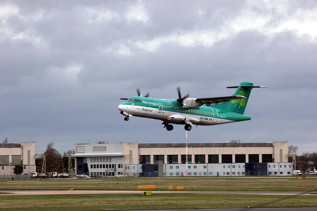 Stobart Air (Aer Lingus) ATR-42 EI-CBK.<br /> By Clive Featherstone.
