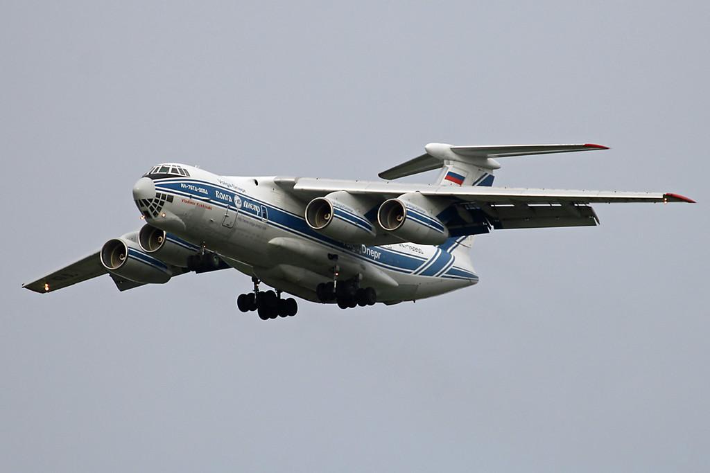 Volga-Dnepr Ilyushin Il-76TD RA-76050.<br /> By Graham Vlacho.