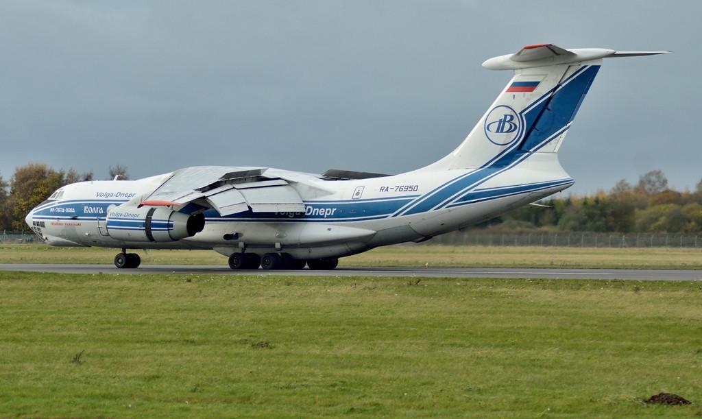 Volga-Dnepr Ilyushin Il-76TD RA-76050.<br /> By Kev Barwell.