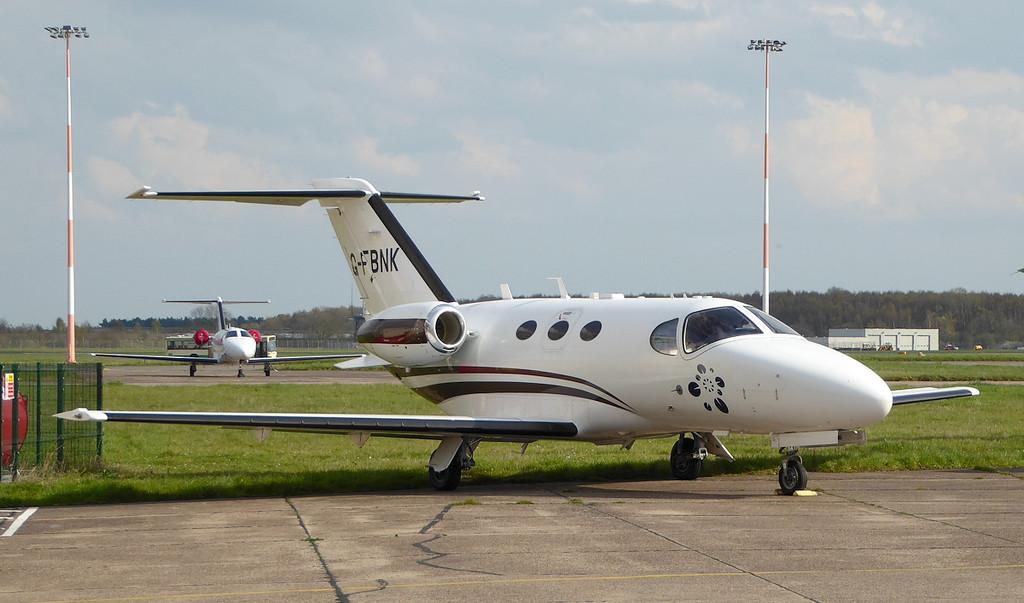 Blink Ltd, Cessna 510 Citation Mustang, G-FBNK.<br /> By Correne Calow.