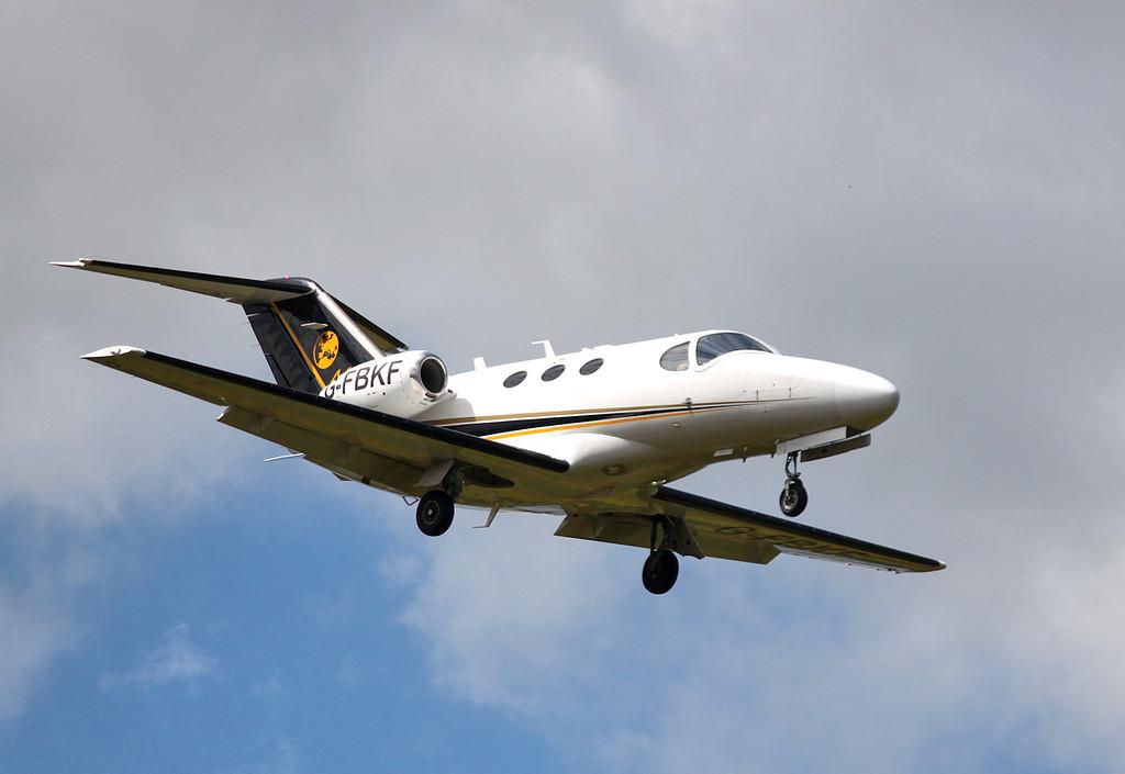 Blink Ltd, Cessna 510 Citation Mustang, G-FBKF<br /> By Graham Miller.