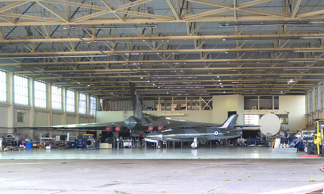 With N53GX out the way; this was the view inside the hangar...........XH558 and WK275<br /> By Correne Calow.