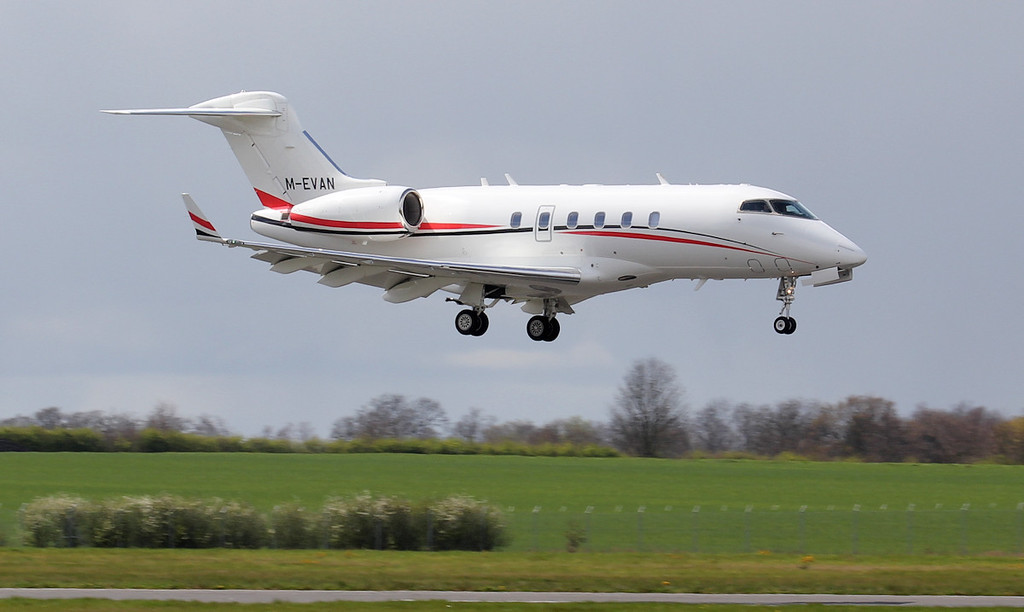 Marcus Evans Aviation, Bombardier BD-100-1A10 Challenger 300, M-EVAN<br /> By Jim Calow.