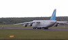 """Antonov Airlines An-124, UR-82072  - the crew started engines and taxied behind the """"Follow Me"""" vehicle towards the apron and over night parking.<br /> By Jim Calow."""